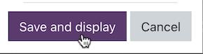 save and display