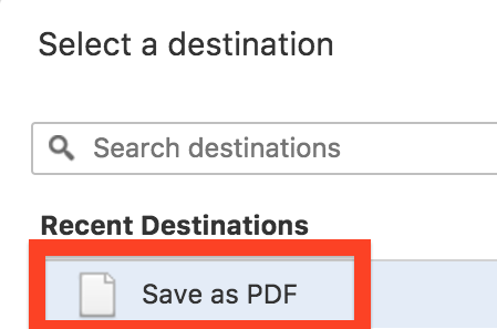 chrome print to pdf destination