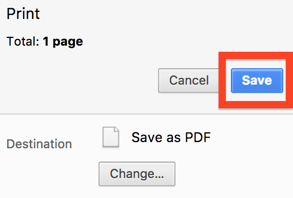 chrome save button