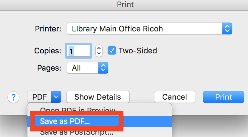 Firefox print to pdf option