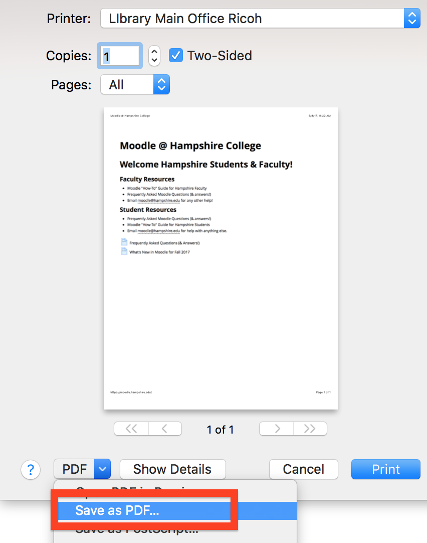 safari save to pdf option